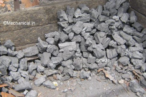 Coke used as a fuel in cupalo furnace