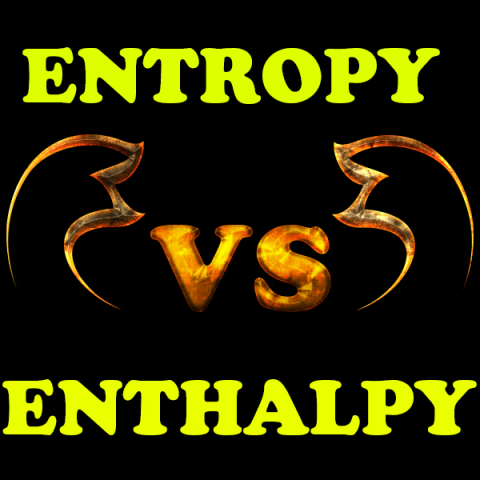 What is the difference between entropy and enthalpy?