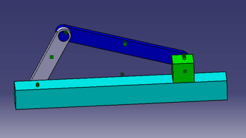 Single Slider Crank Mechanism in CATIA V5