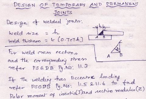 Design Procedure for Temporary and Permanent Joints