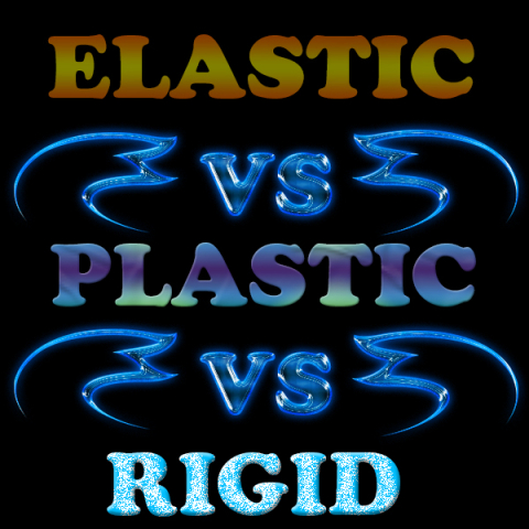 Difference between Elastic, Plastic and Rigid materials